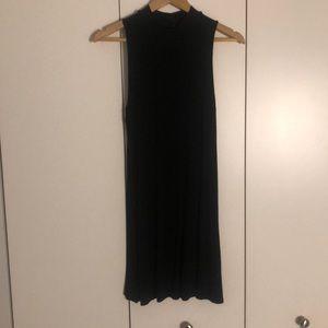 Top shop Mock Neck Black Mini Dress